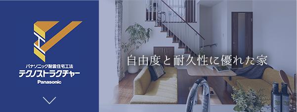 自由度と耐久性に優れた家 テクノストラクチャーの家